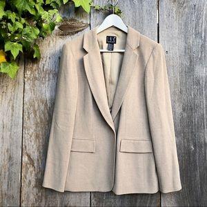 I.N.C tan neutral one button blazer sz 8